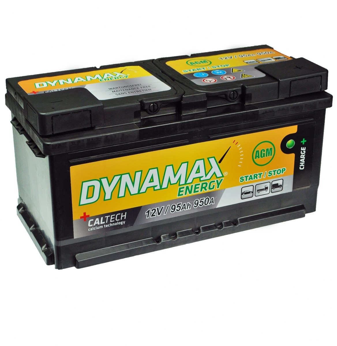 95ah agm autobatterie dynamax energy start stop 12v start. Black Bedroom Furniture Sets. Home Design Ideas